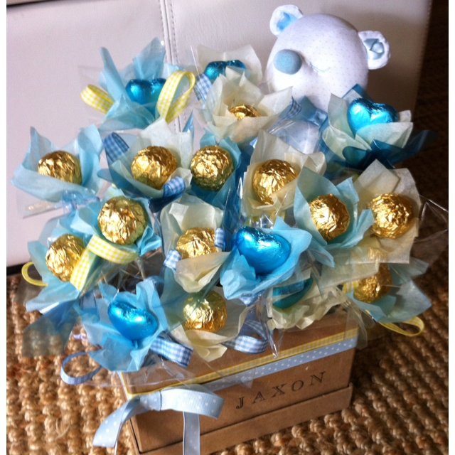 Baby Gift Edible Arrangements : Baby boy chocolate bouquet diy edible arrangements