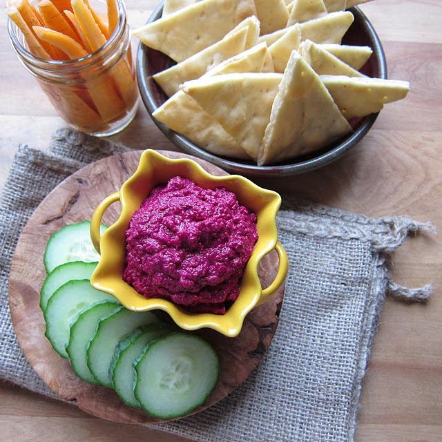 beet hummus | Appetizers | Pinterest