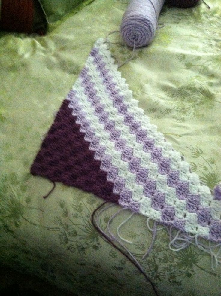 Crochet Stitches C2c : ... to corner block stitch. Corner-Start and Bias Crochet Pint
