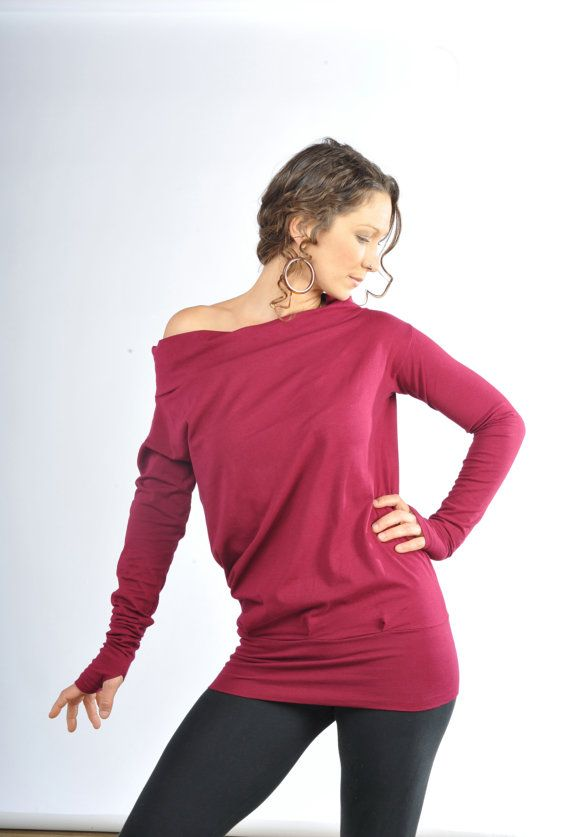 Relaxed Long Sleeve Women 39 S Clothing Off The Shoulder