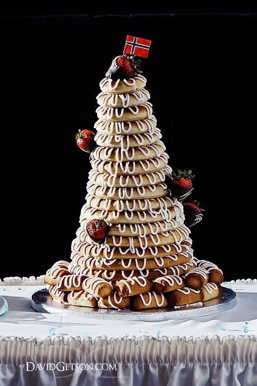 Norwegian Kransekake - one we created for a wedding client this past ...