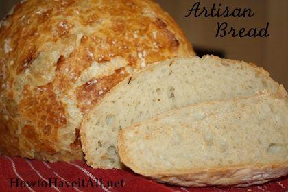 Crusty Artisan Style Bread | Recipe
