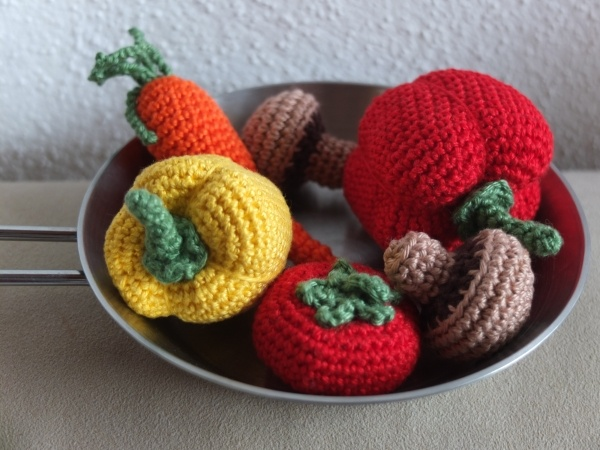 Geh?keltes Gem?se Crocheted vegetables Yarn Crafting Pinterest