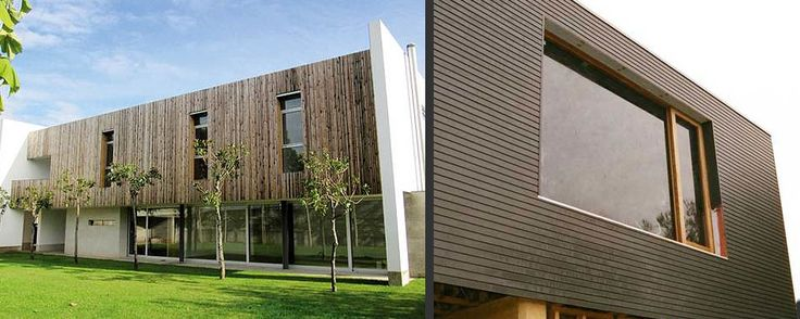 modern house timber cladding