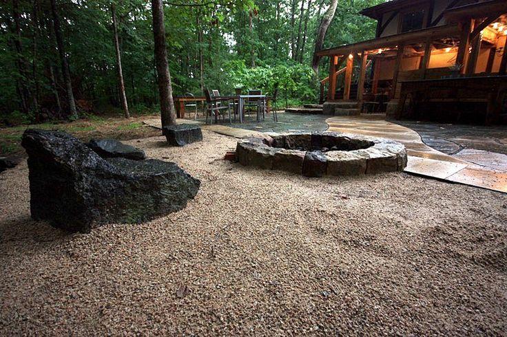 No Grass Backyard Pictures : Nograss backyard; firepit  Gardening  Pinterest