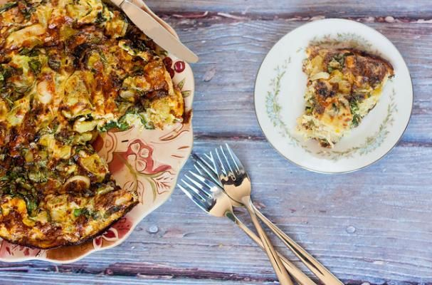 Perfectly Simple: Green Tomato and Leek Frittata - Foodista.com