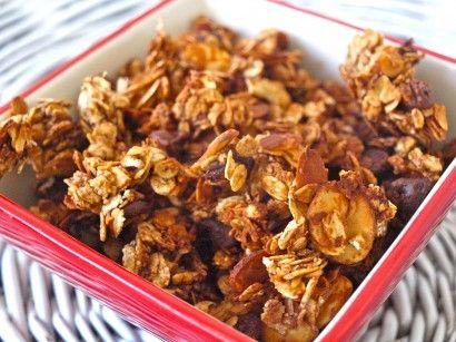 Chocolate Almond Granola (use GF oats, etc)