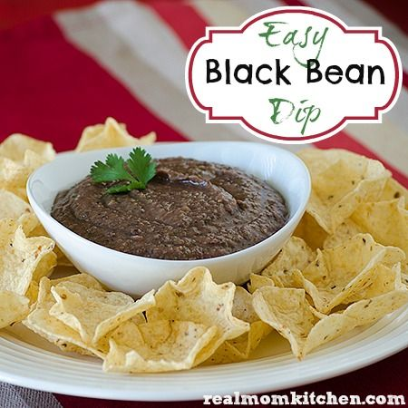 Easy Black Bean Dip - Real Mom Kitchen   Food   Pinterest