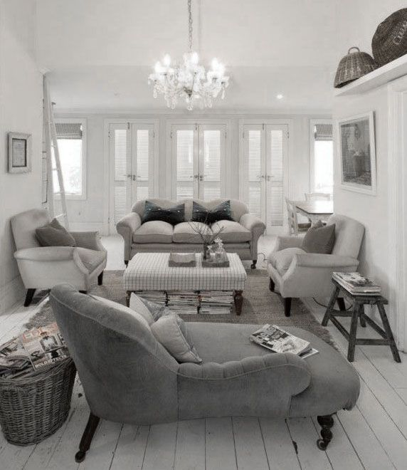 White And Gray Living Room   Contemporary   Living Room   Elsa Soyars Part 75