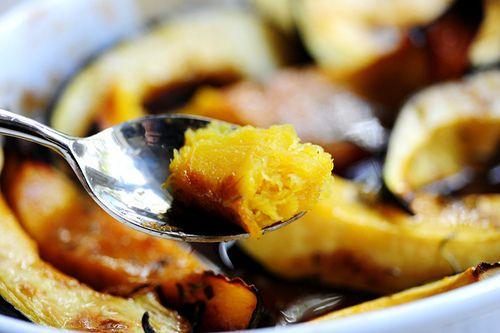 Sweet-Roasted Rosemary Acorn Squash Wedges | Recipe