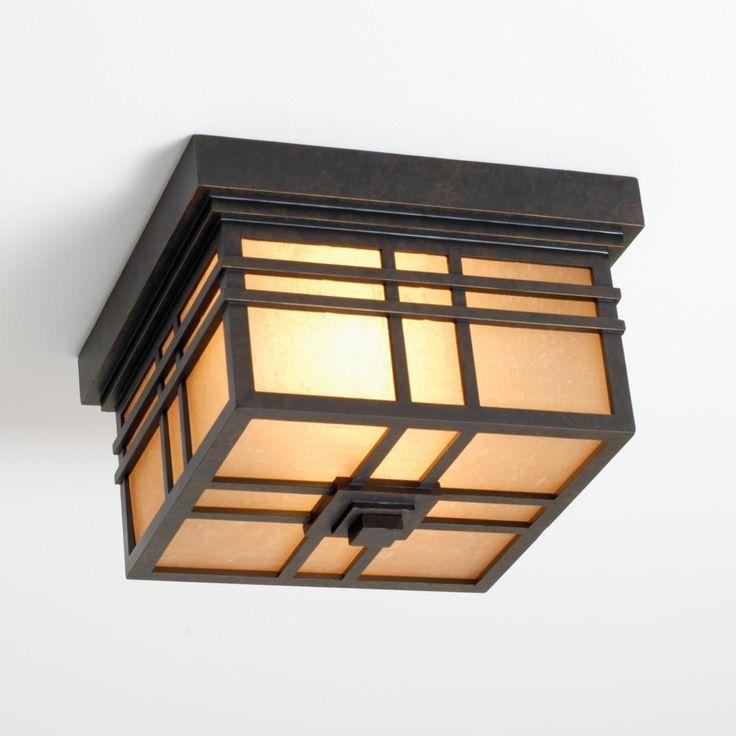 bronze craftsman mission indoor or outdoor ceiling light
