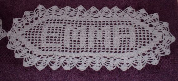 Crochet Patterns Names : Crochet Name Doily Any Name Heirloom