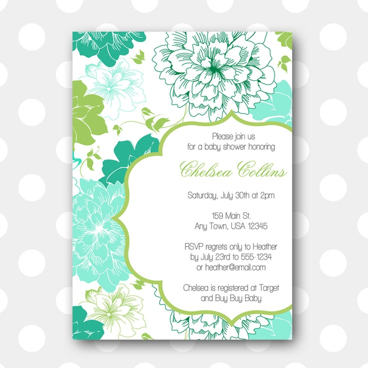 printable baby shower invitation our party ideas pinterest