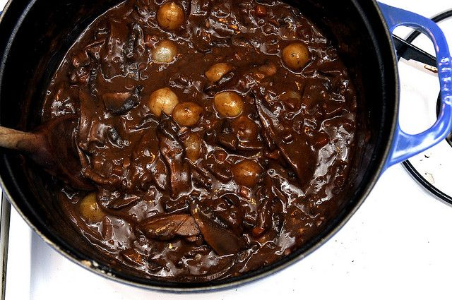 mushroom bourguignon thickened up by smitten, via Flickr