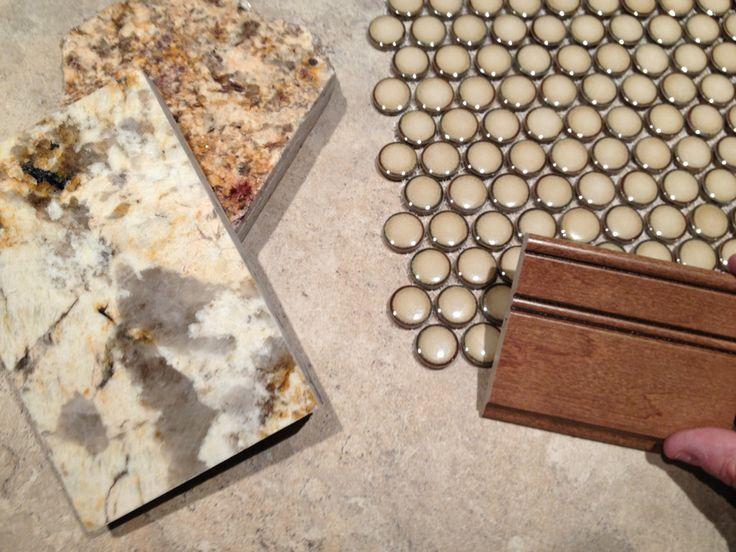 penny tile for backsplash cathy kitchen pinterest