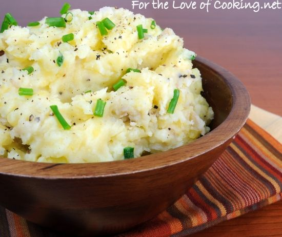 smashed potatoes with sour cream and chives make this even healthier ...