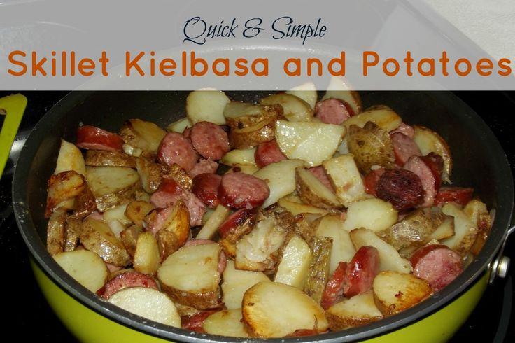 And easy skillet kielbasa and potatoes meal plan ideas pinterest