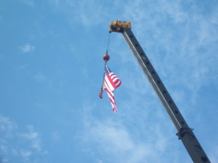 flying flag on memorial day