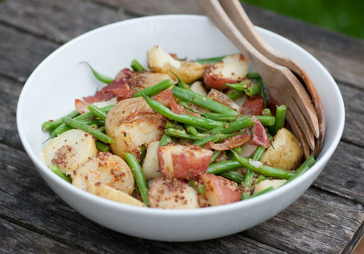 Warm Potato Green Bean Salad | YUM!!! | Pinterest