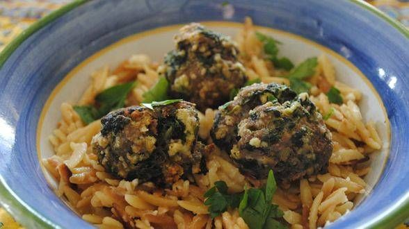 Greek Meatballs and Toasted Orzo. Made this for dinner tonight and it ...