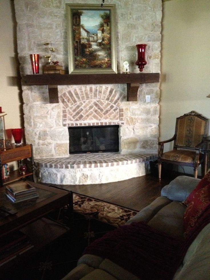 Tuscan Style Stone Fireplace Fireplaces Pinterest