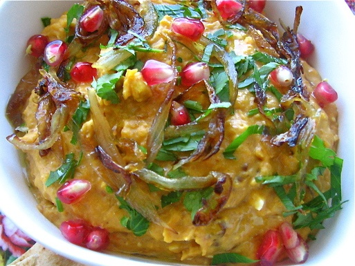 ... Squash Dip with Pomegranate Molasses, Feta, and Caramelized Shallots