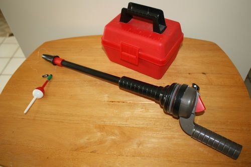 Vtg 1988 1989 fisher price fishing kit rod tackle box for Fisher price fishing pole