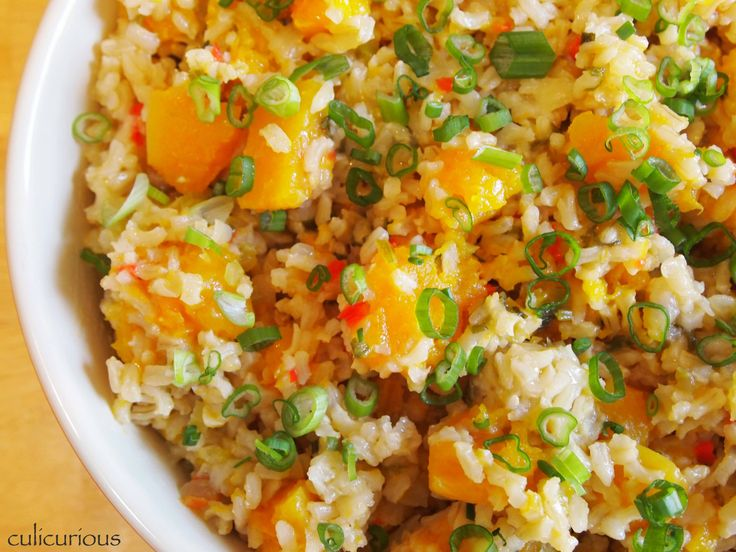 Butternut Squash and Brown Rice Dressing | Eat Your Veggies | Pintere ...