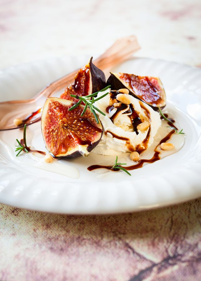 Figs are roasted in the oven, then served alongside creamy ricotta ...