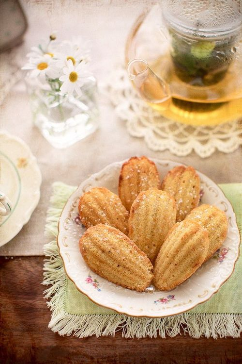 Orange-Blossom-Honey Madeleines Recipe — Dishmaps