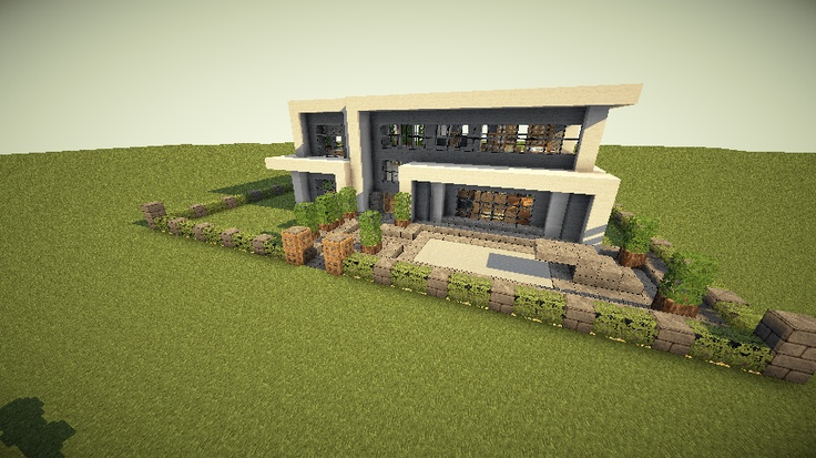Modern minecraft house minecraft ideas pinterest for Minecraft modern home designs