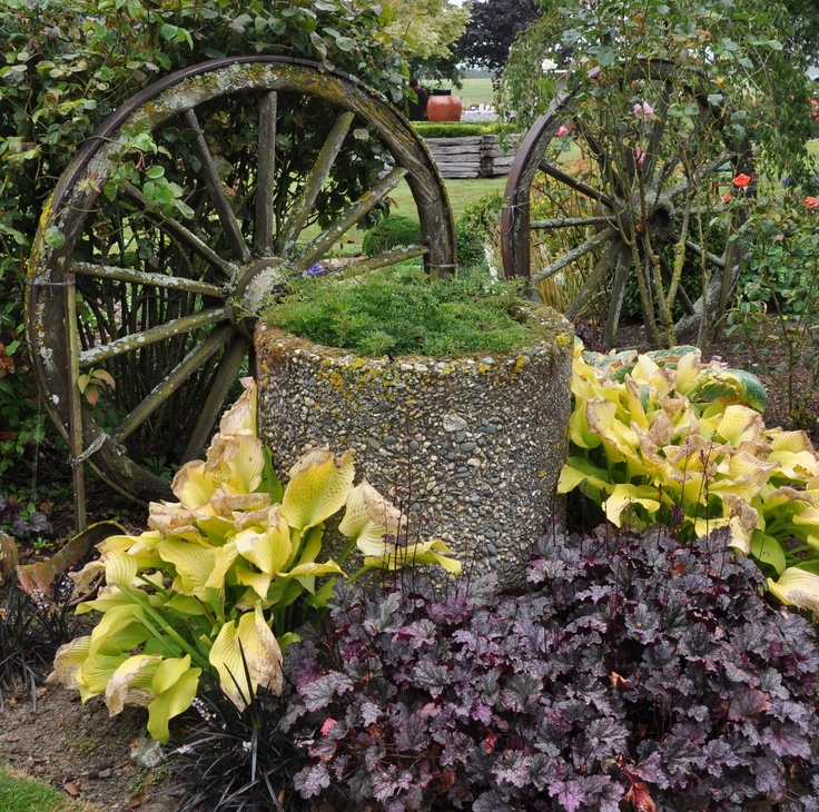 rustic garden feature gardening ideas pinterest