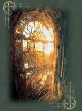 A stained glass window, still beautiful under the sea...