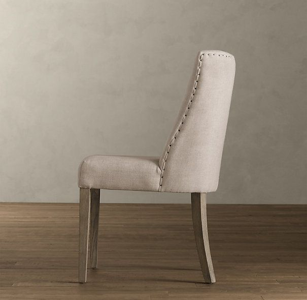 1940s French Upholstered Barrelback Chair | Fabric Arm & Side Chairs | Restoration Hardware