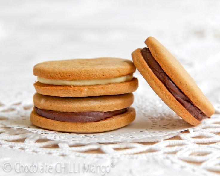 Ganache Sandwiches (Brown Sugar Frosting Cookies with Dark Caramel ...