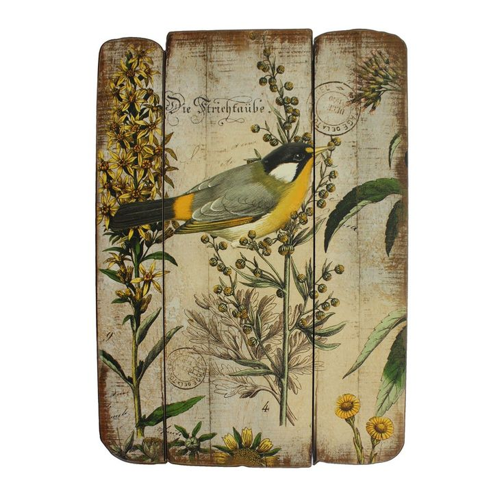 Distressed Wood Bird Wall Art Home The Short List