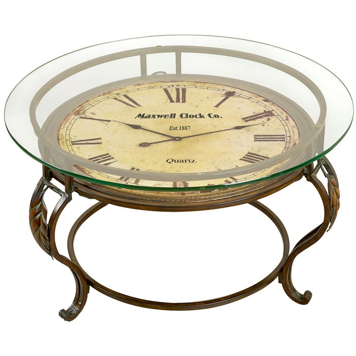 Maxwell clock coffee table it works home decor pinterest Coffee table with clock