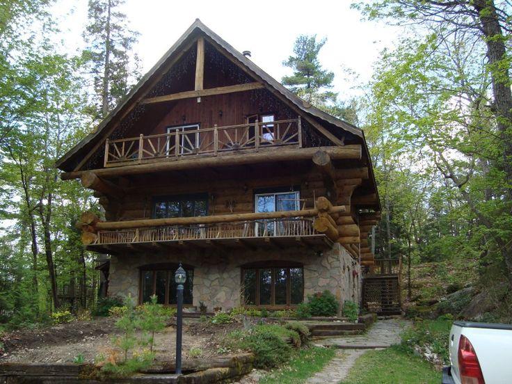 Large Custom Log Cabin Log Cabins Pinterest