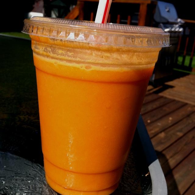 Carrot cake carrot juice- 4 carrots, pineapple,an orange coconut milk ...