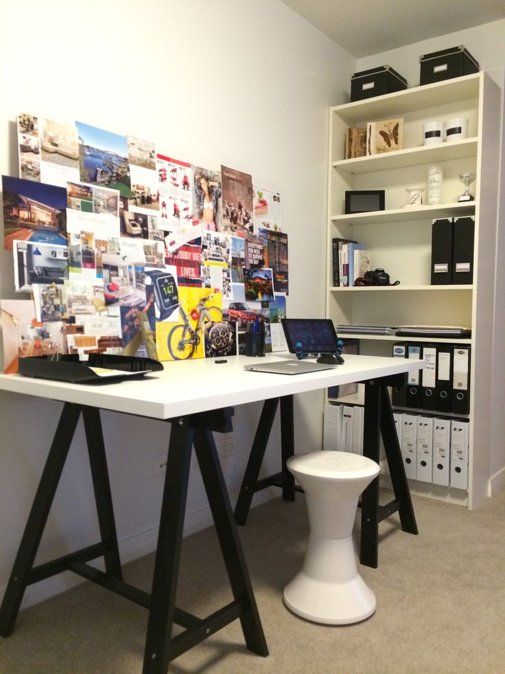 Black and white home office decor interior design home - Black and white office decor ...