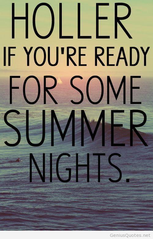 Summer Nights Quote