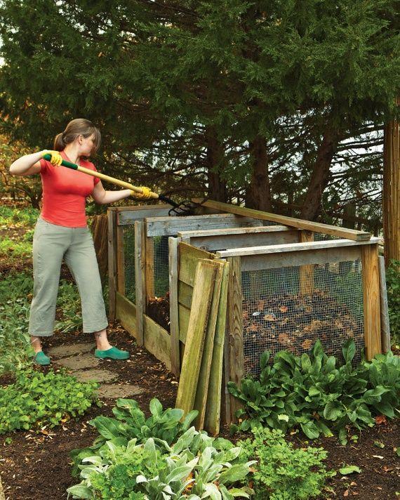 DIY Compost System Garden Ideas Pinterest
