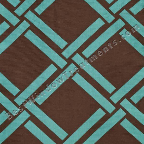 Element Lattice Curtains - Chocolate Brown /Turquoise Blue reversible ...