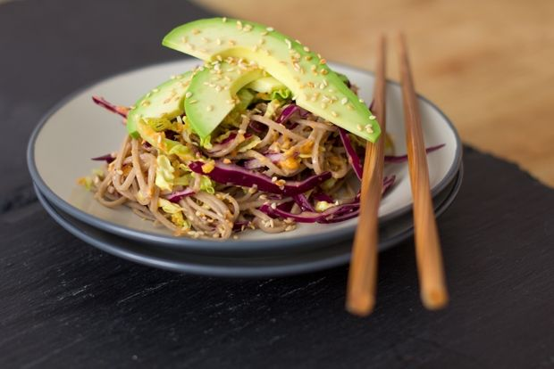 Soba Salad with Carrot-Ginger Dressing | Avocado ♥ers | Pinterest