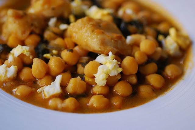 Garbanzos con espinacas y bacalao recipes pinterest - Bacalao con garbanzos y patatas ...