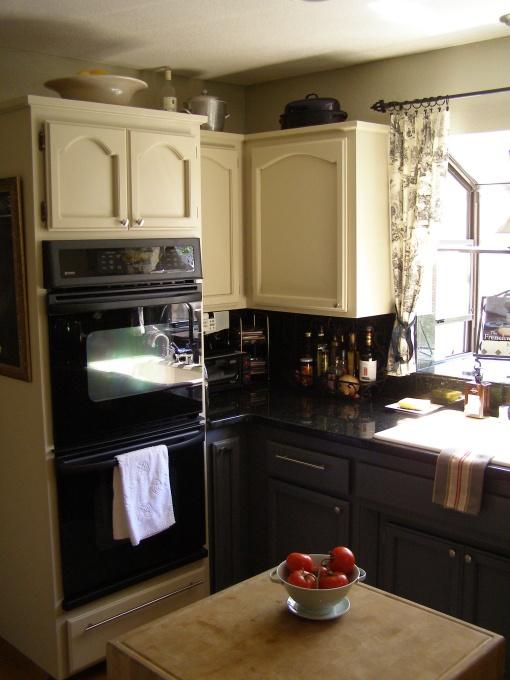 Gray Base Cabinets White Top Kitchen Pinterest