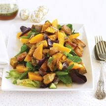 Sweet Spiced Honey Maple Kumara (Sweet Potato) and Orange Salad