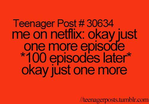 Addicted to Netflix | Teenager Post