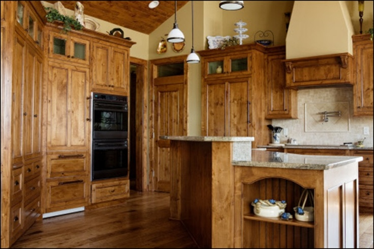 Knotty alder cabinets for the home pinterest for Alder wood for kitchen cabinets