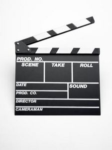 Movie Clapboard for Decorations
